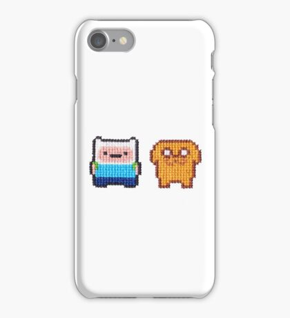 Adventure time! 8-bit Cross stitch Finn and Jake iPhone Case/Skin