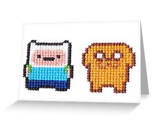 Adventure time! 8-bit Cross stitch Finn and Jake Greeting Card