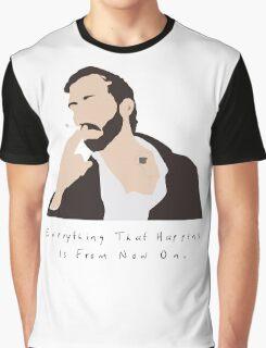 Bon Iver Wild Cabin Indie Folk Fan Art Unofficial Music Graphic T-Shirt