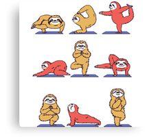 Yoga Sloth Canvas Print