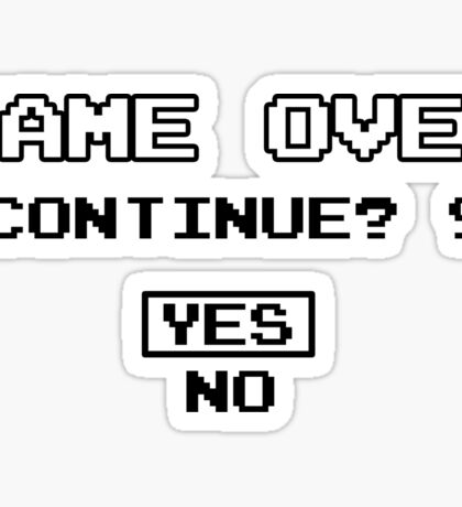 Game Over Geek Gaming Nerd Retro PC NES SNES PlayStation XBOX SEGA Sticker