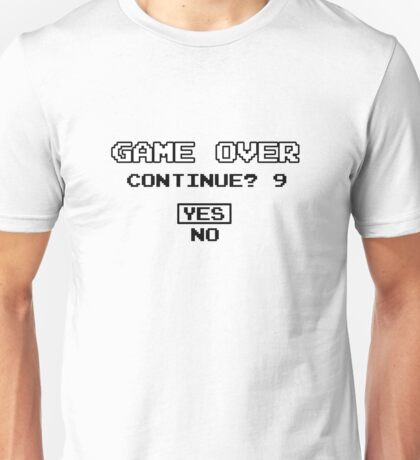 Game Over Geek Gaming Nerd Retro PC NES SNES PlayStation XBOX SEGA Unisex T-Shirt