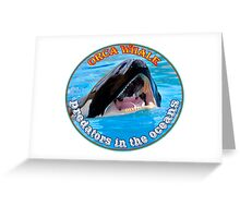 Orca Whale  predators attacking Greeting Card
