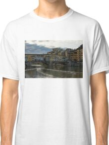 Light Trails on the Arno - Florence, Italy Classic T-Shirt
