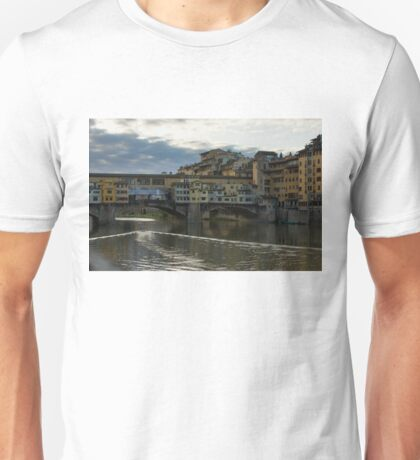Light Trails on the Arno - Florence, Italy Unisex T-Shirt
