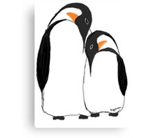 Penguin Partners Canvas Print