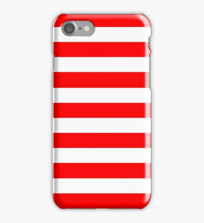 Where´s waldo stripe pattern iPhone Case/Skin
