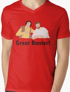 Alan Partridge Mid Morning Matters North Norfolk Radio Steve Coogan Fan Art Unofficial Funny Mens V-Neck T-Shirt