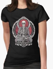 Starving Buddha Cherry Wood Womens Fitted T-Shirt