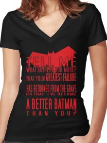 Red Hood Quotes Women's Fitted V-Neck T-Shirt