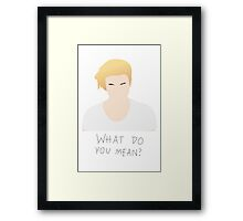 Justin Bieber What Do You Mean Fan Art Unofficial Music  Framed Print