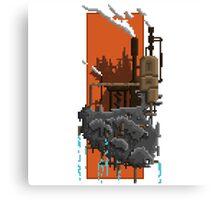 Pixel Landscape : Steam Factory Canvas Print