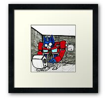 Transformers in the Office Framed Print