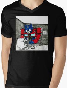Transformers in the Office Mens V-Neck T-Shirt