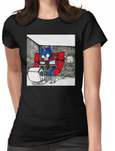 Transformers in the Office Womens Fitted T-Shirt