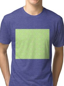 Abstract  pattern over green background Tri-blend T-Shirt