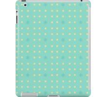 Retro pattern in blue iPad Case/Skin