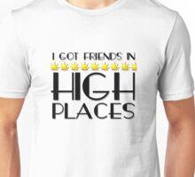 Weed Humour Marijuana Stoned Funny Wordplay Reggae Smoking Pot Unisex T-Shirt