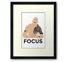 The Rock Dwayne Johnson Focus WWE Fan Art Unofficial  Framed Print