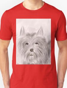 Cute Terrier Sketched Drawing Unisex T-Shirt
