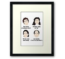 Seinfeld Comedy Fan Art Unofficial Jerry Larry David Funny Kramer Framed Print