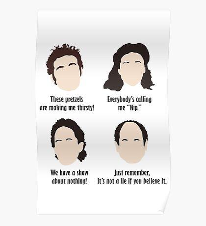 Seinfeld Comedy Fan Art Unofficial Jerry Larry David Funny Kramer Poster