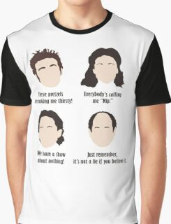 Seinfeld Comedy Fan Art Unofficial Jerry Larry David Funny Kramer Graphic T-Shirt
