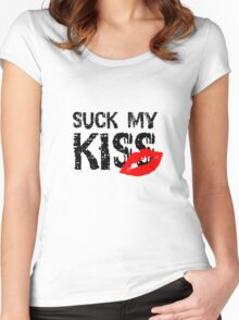 Suck my kiss Red Hot Chilli Peppers Music Lyrics Quote Cool Rock Women's Fitted Scoop T-Shirt