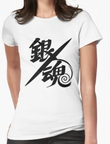 Gintama Black Logo, Anime Womens Fitted T-Shirt