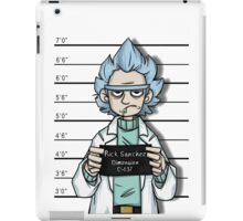 rick sanchez, rick and morty, rick, morty, free rick, tv show, funny, movie, cartoon. iPad Case/Skin