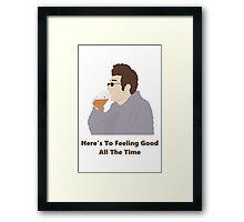 Seinfeld Kramer Feel Good Comedy Fan Art Unofficial Jerry Larry David Funny Framed Print
