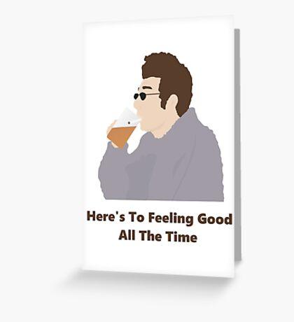 Seinfeld Kramer Feel Good Comedy Fan Art Unofficial Jerry Larry David Funny Greeting Card