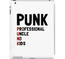 Punk Professional Uncle iPad Case/Skin