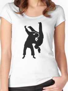 Judo woman girl Women's Fitted Scoop T-Shirt