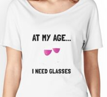 Wine Glasses Women's Relaxed Fit T-Shirt