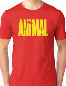 animal, fitness, muscle, strong, bodybuilding, logo, symbol, nutrition, vitamin, booster, barbell, club. Unisex T-Shirt