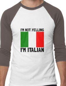 Yelling Italian Men's Baseball ¾ T-Shirt