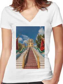 Big Buddha Women's Fitted V-Neck T-Shirt
