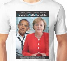 Obama and Merkel in Friends with Benefits Unisex T-Shirt