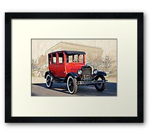 1927 Ford Model T Sedan 'Old Roseville' Framed Print