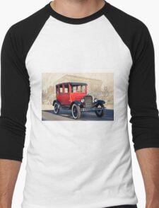 1927 Ford Model T Sedan 'Old Roseville' Men's Baseball ¾ T-Shirt