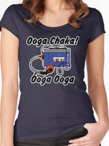 Ooga chaka! Ooga ooga Women's Fitted Scoop T-Shirt