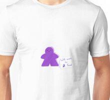 Meeple Worker Purple Unisex T-Shirt