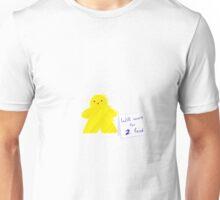 Meeple Worker Yellow Unisex T-Shirt