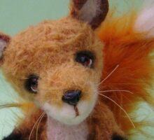 Handmade bears from Teddy Bear Orphans - Freddy Fox Sticker