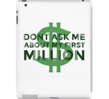 Money Humour Joke Funny Million Rich Cool Cheesy iPad Case/Skin