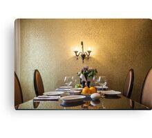 dinner table setting Canvas Print