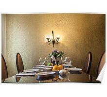 dinner table setting Poster
