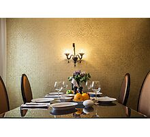 dinner table setting Photographic Print