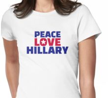 Peace Love Hillary Womens Fitted T-Shirt